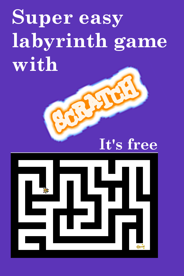 Super easy labyrinth game with Scratch