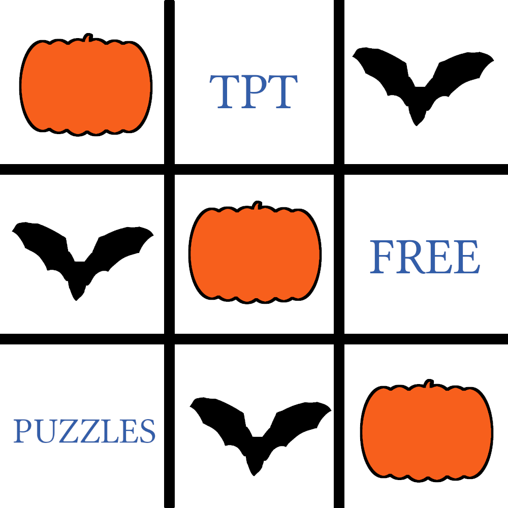 Top 10 new & free puzzle downloads in TPT in October 2019